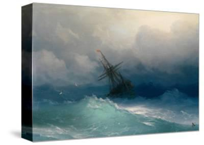 Ship on Stormy Seas-Ivan Konstantinovich Aivazovsky-Stretched Canvas Print