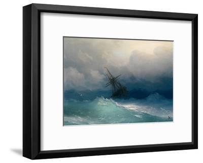 Ship on Stormy Seas-Ivan Konstantinovich Aivazovsky-Framed Giclee Print