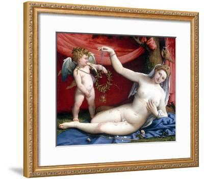 Venus and Cupid-Lorenzo Lotto-Framed Giclee Print