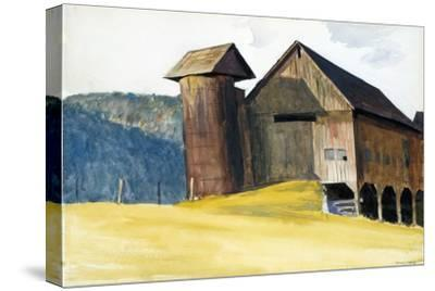 Barn and Silo, Vermont-Edward Hopper-Stretched Canvas Print