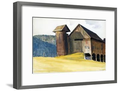 Barn and Silo, Vermont-Edward Hopper-Framed Premium Giclee Print