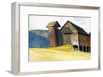 Barn and Silo, Vermont-Edward Hopper-Framed Giclee Print