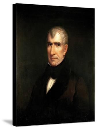 Portrait of President William Henry Harrison-James Reid Lambdin-Stretched Canvas Print