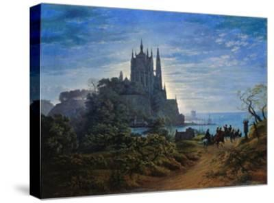 Gothic Church on a Cliff by the Sea by Karl Friedrich Schinkel--Stretched Canvas Print