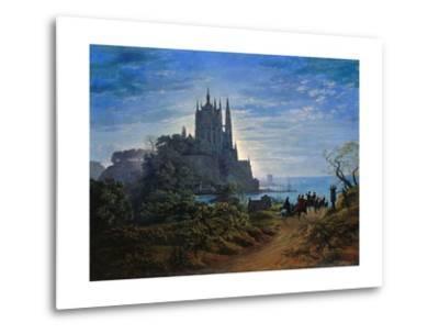 Gothic Church on a Cliff by the Sea by Karl Friedrich Schinkel--Metal Print