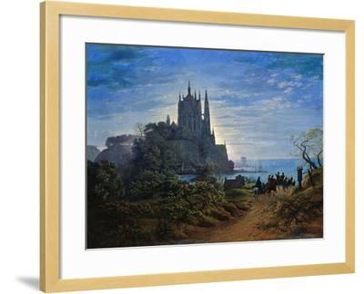 Gothic Church on a Cliff by the Sea by Karl Friedrich Schinkel--Framed Giclee Print