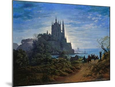 Gothic Church on a Cliff by the Sea by Karl Friedrich Schinkel--Mounted Giclee Print