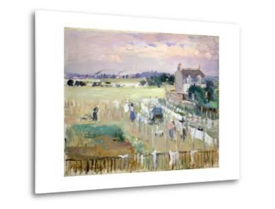 Hanging the Laundry Out to Dry-Berthe Morisot-Metal Print