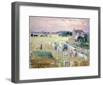 Hanging the Laundry Out to Dry-Berthe Morisot-Framed Giclee Print