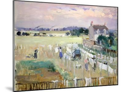 Hanging the Laundry Out to Dry-Berthe Morisot-Mounted Giclee Print