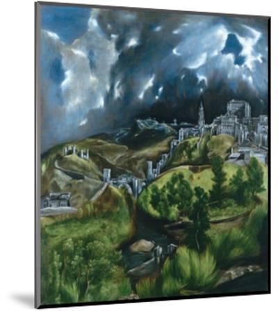 View of Toledo-El Greco-Mounted Giclee Print