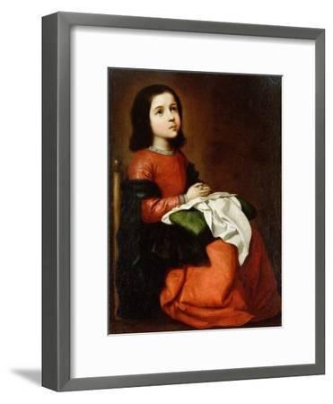 Virgin Mary as a Child-Francisco de Zurbaran-Framed Giclee Print