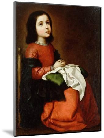 Virgin Mary as a Child-Francisco de Zurbaran-Mounted Giclee Print