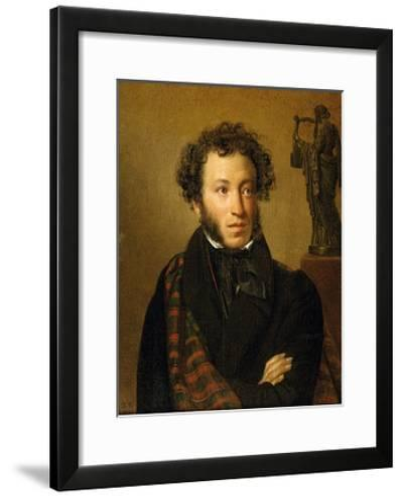 Portrait of A. S. Pushkin-Orest Adamovich Kiprensky-Framed Giclee Print