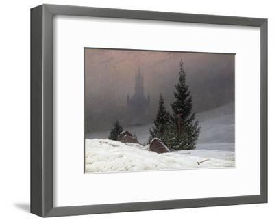 Winter Landscape-Caspar David Friedrich-Framed Premium Giclee Print