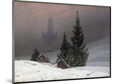 Winter Landscape-Caspar David Friedrich-Mounted Premium Giclee Print
