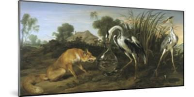 Fable of the Fox and the Heron-Frans Snyders-Mounted Giclee Print