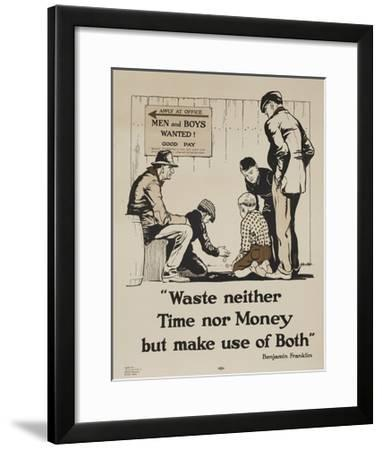 1920s YMCA Personal Finance Poster--Framed Giclee Print