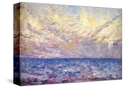Setting Sun-Frederick McCubbin-Stretched Canvas Print