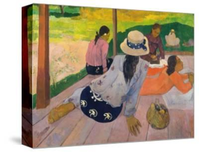 The Siesta-Paul Gauguin-Stretched Canvas Print