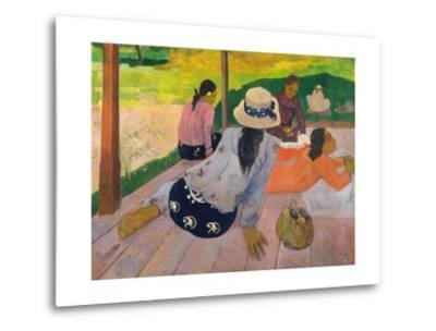 The Siesta-Paul Gauguin-Metal Print
