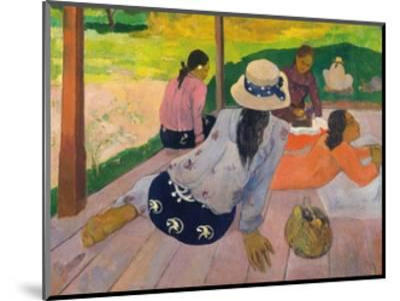 The Siesta-Paul Gauguin-Mounted Giclee Print