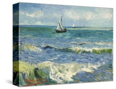 Seascape Near Les Saintes-Maries-De-La-Mer-Vincent van Gogh-Stretched Canvas Print