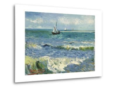 Seascape Near Les Saintes-Maries-De-La-Mer-Vincent van Gogh-Metal Print