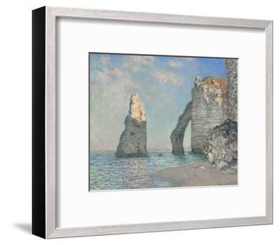 The Cliffs at Etretat-Claude Monet-Framed Giclee Print