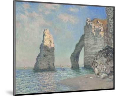 The Cliffs at Etretat-Claude Monet-Mounted Giclee Print