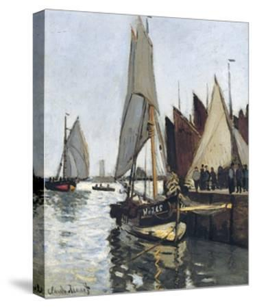 Bateaux a Honfleur (Study for Le Port De Honfleur)-Claude Monet-Stretched Canvas Print