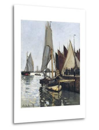 Bateaux a Honfleur (Study for Le Port De Honfleur)-Claude Monet-Metal Print