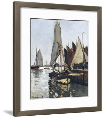 Bateaux a Honfleur (Study for Le Port De Honfleur)-Claude Monet-Framed Giclee Print