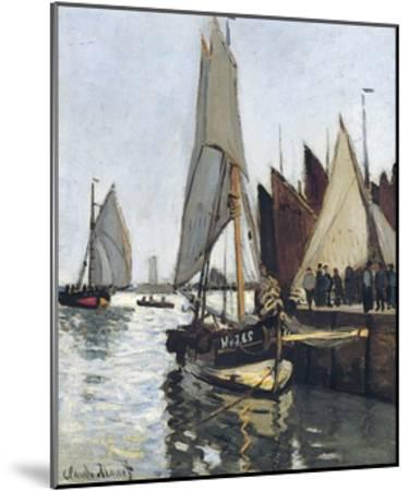 Bateaux a Honfleur (Study for Le Port De Honfleur)-Claude Monet-Mounted Giclee Print