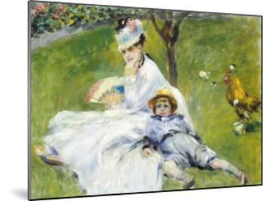 Madame Monet and Her Son-Pierre-Auguste Renoir-Mounted Giclee Print