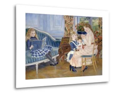 Children's Afternoon at Wargemont-Pierre-Auguste Renoir-Metal Print