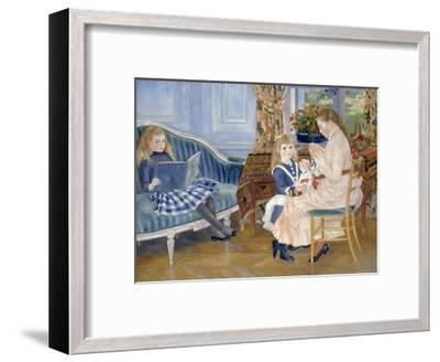 Children's Afternoon at Wargemont-Pierre-Auguste Renoir-Framed Giclee Print