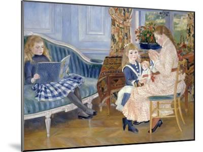 Children's Afternoon at Wargemont-Pierre-Auguste Renoir-Mounted Giclee Print