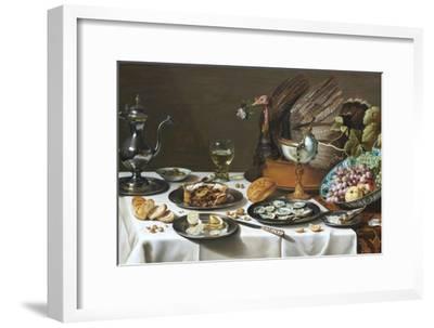 Still Life with Turkey Pie-Pieter Claesz-Framed Premium Giclee Print