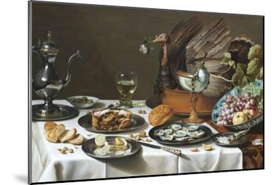 Still Life with Turkey Pie-Pieter Claesz-Mounted Premium Giclee Print
