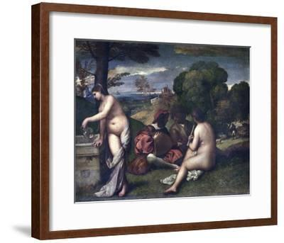 Le Concert Champetre, or the Pastoral Concert-Giorgione and Titian-Framed Giclee Print