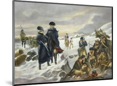 George Washington and Marquis Lafayette at Valley Forge after Alonzo Chappel--Mounted Giclee Print