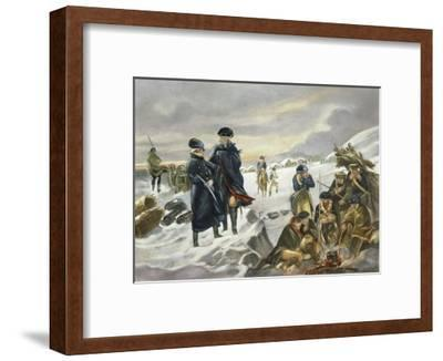 George Washington and Marquis Lafayette at Valley Forge after Alonzo Chappel--Framed Giclee Print
