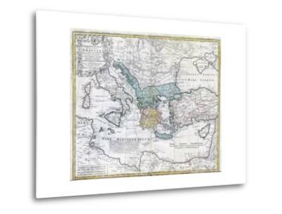 Map of the Ancient Greek World--Metal Print
