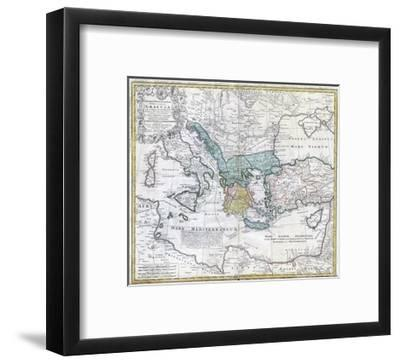 Map of the Ancient Greek World--Framed Giclee Print