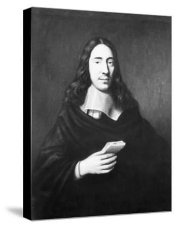 Painting of Dutch Philosopher Spinoza--Stretched Canvas Print