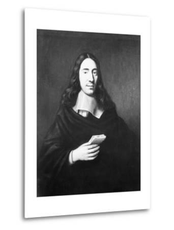 Painting of Dutch Philosopher Spinoza--Metal Print