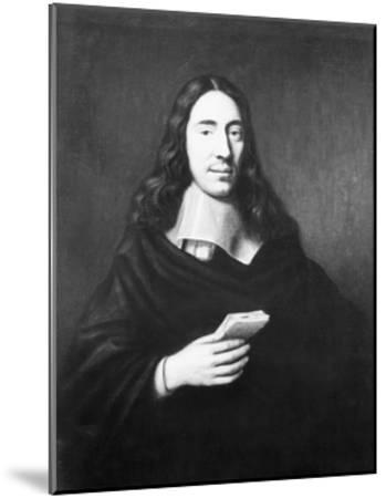 Painting of Dutch Philosopher Spinoza--Mounted Giclee Print