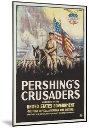 Pershing's Crusaders Poster--Mounted Giclee Print