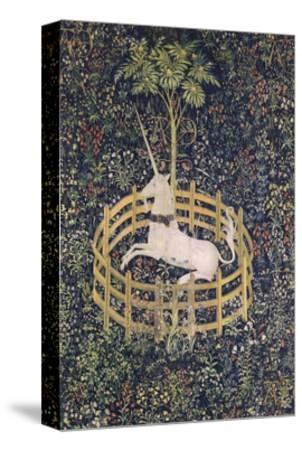 The Unicorn in Captivity Tapestry--Stretched Canvas Print